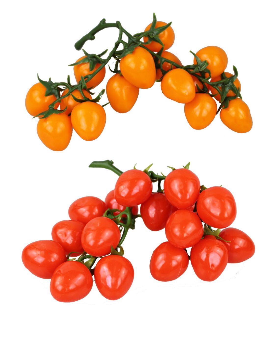 Deko Cherry Tomaten Rispe Bund Kunstobst Kunstgemüse künstliches Obst Gemüse