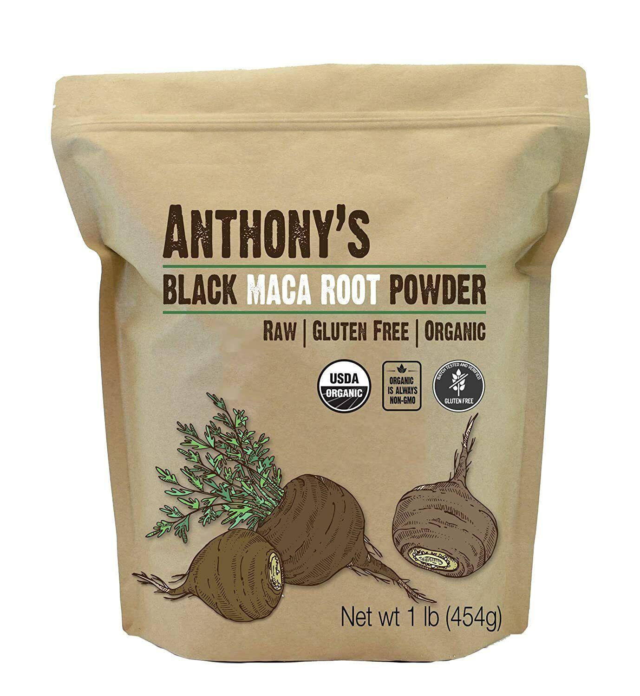 Anthony's Organic Black Maca Powder 1 lb Raw Gluten ...