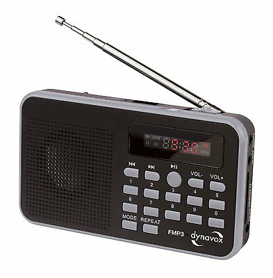DYNAVOX Mini-Radio mit MP3 und USB Badradio Reiseradio