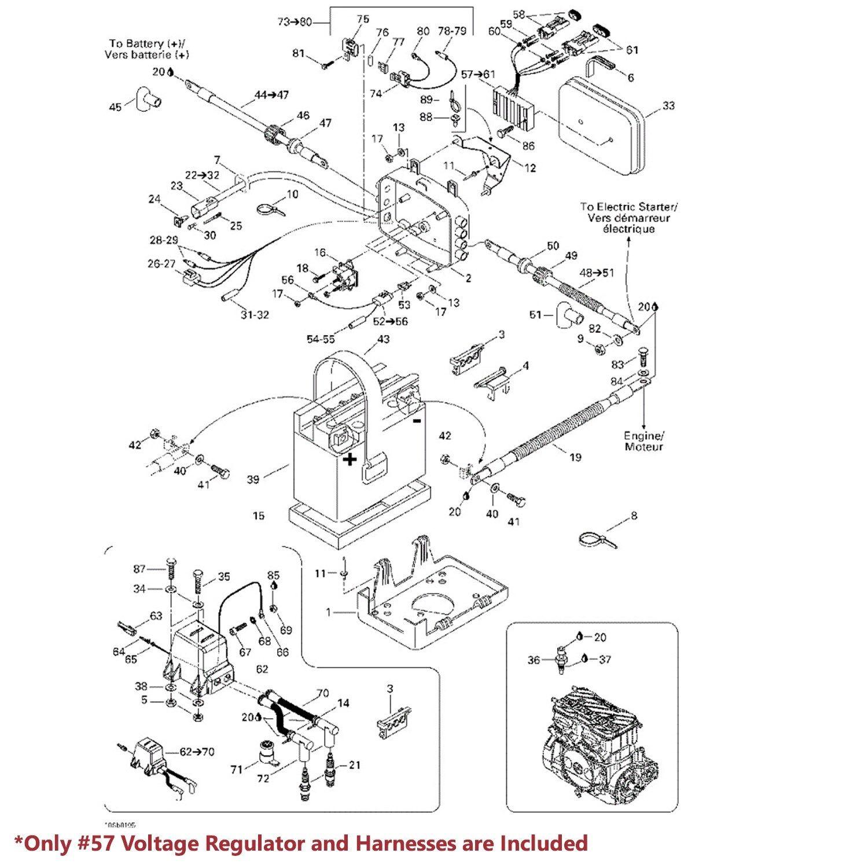 Sea-Doo OE Voltage Regulator/Rectifier Assy. 278001241