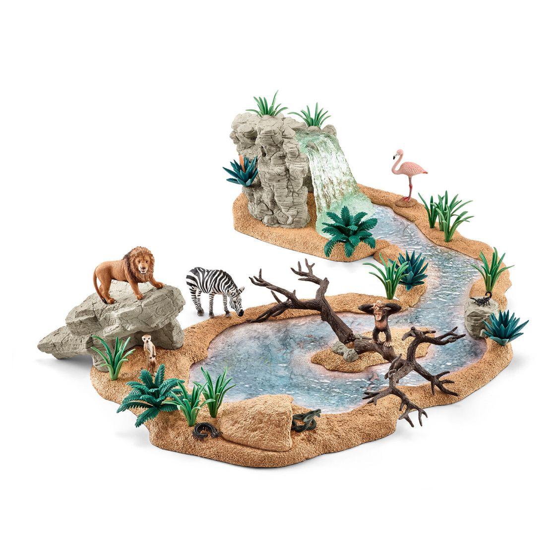 Schleich Neuheiten 2015 WILD LIFE Zubehör Wasserfall  Höhle Wasserstelle Tiere
