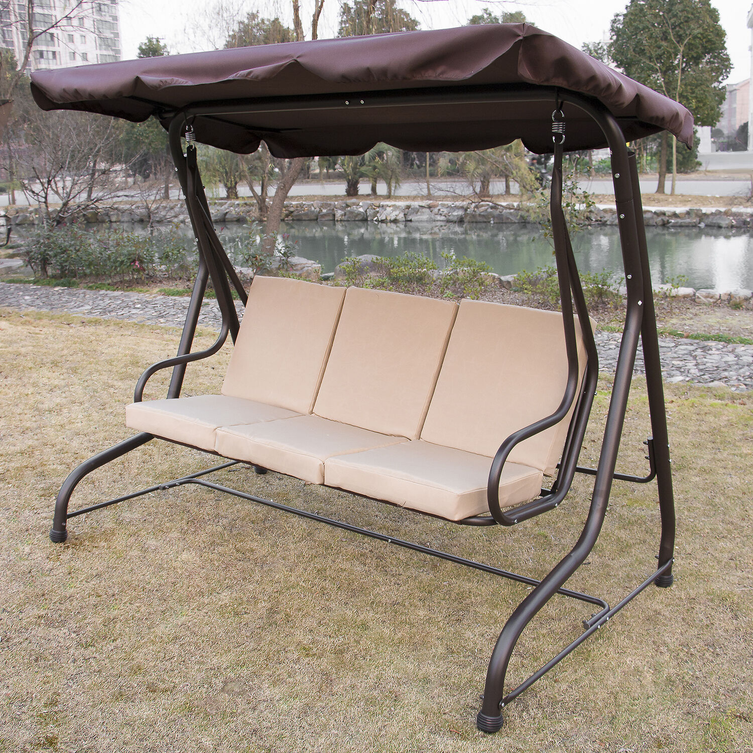 Outdoor Chair With Canopy Outdoor 3 Person Canopy Swing Glider Hammock Patio