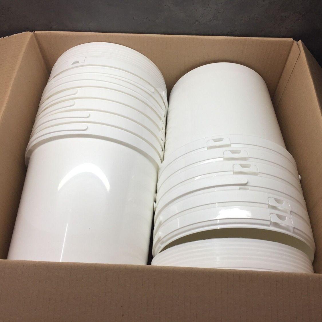 12 Stück 10 L Liter Eimer leer Leereimer weiß leere Kunststoffeimer mit Deckel