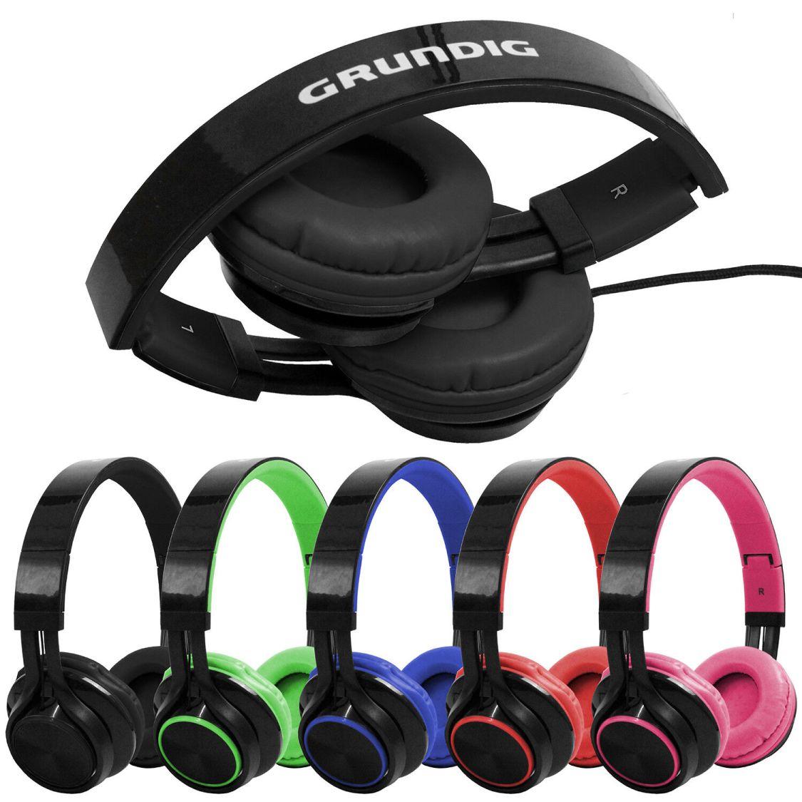 Grundig On Ear Stereo Kopfhörer für Handy Smartphone Tablet Bügelkopfhörer