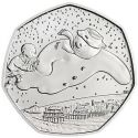 2018 UK The SNOWMAN Brilliant Uncirculated 50p Coin Pack BU CERTIFIED Sealed