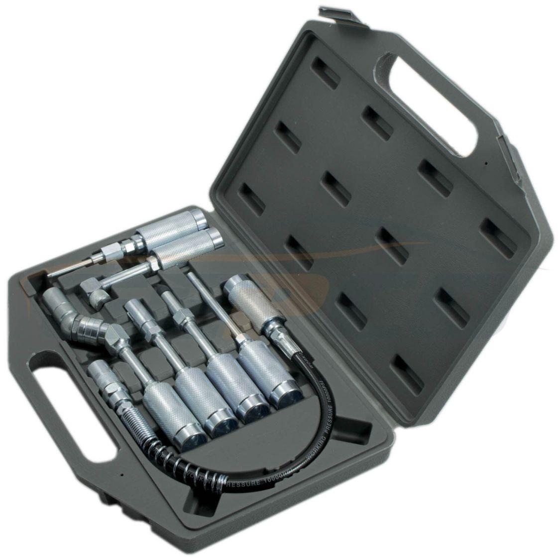 7-tlg Fettpresse Zubehör Adapter Zubehörsatz für Fettpressen Werkzeug Set