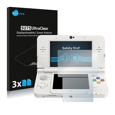 6x Displayschutzfolie für Nintendo New 3DS Schutzfolie Klar Folie Displayfolie