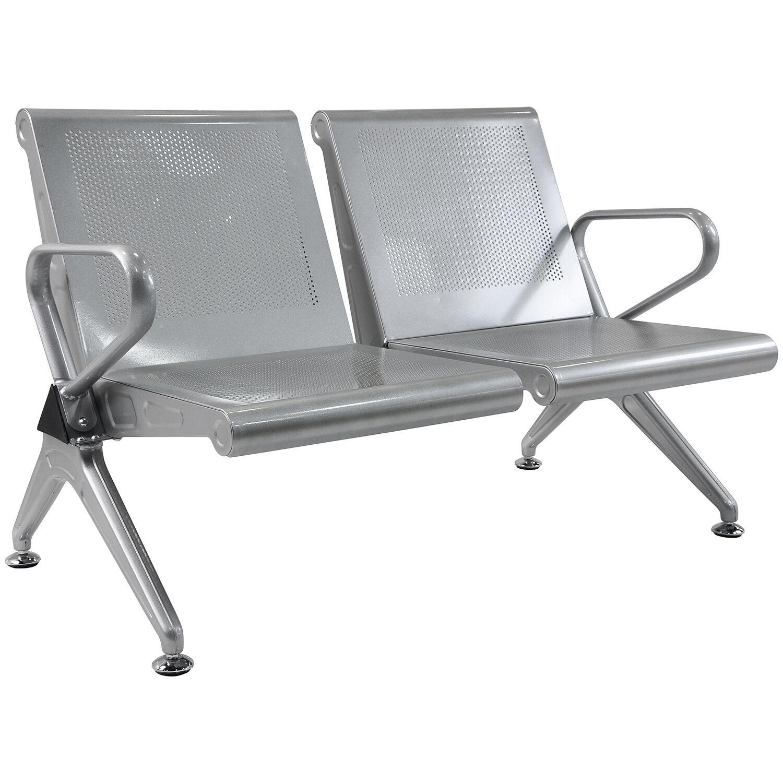 steel airport chair wheelchair scientist 2 seat waiting room bench reception salon paint