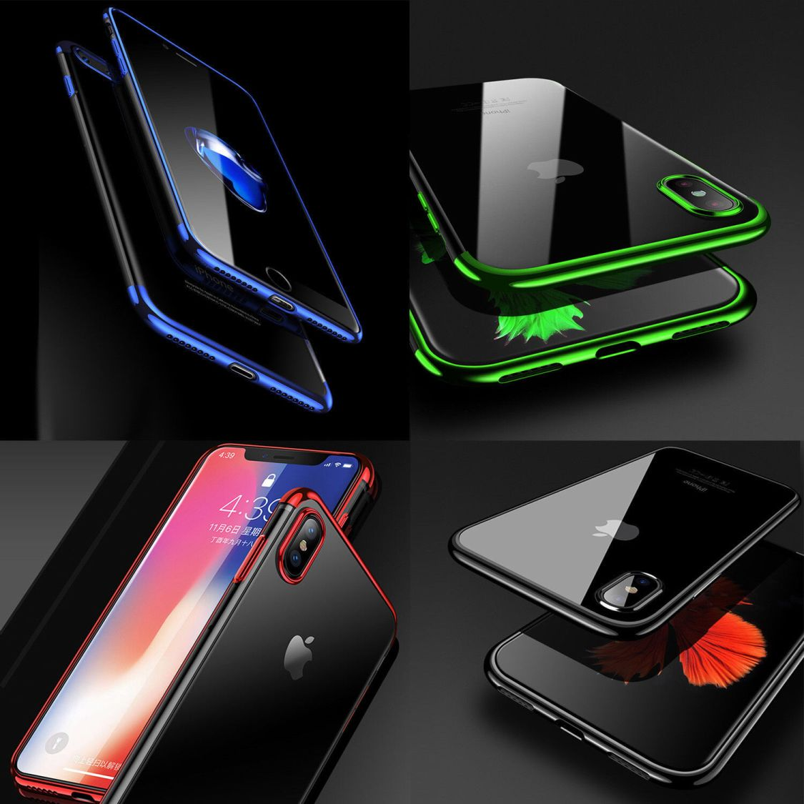 Hülle für iPhone 7 / 8 Ultra Slim Silikon Hülle Transparent Case + Schutz Glas