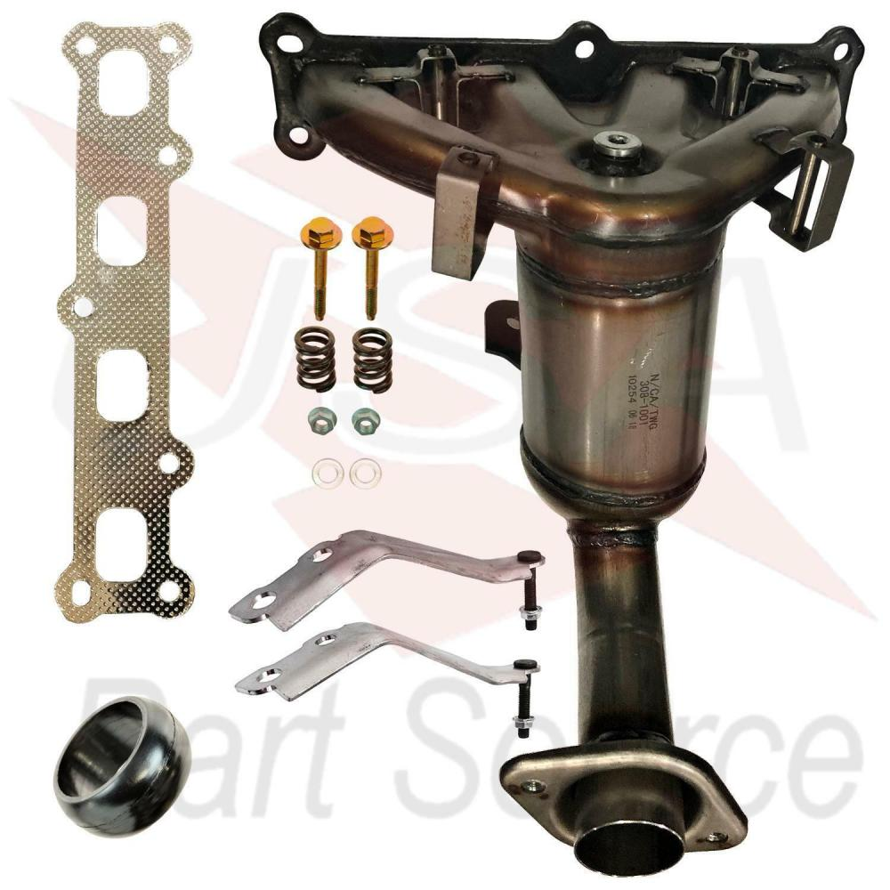 medium resolution of details about 2007 2013 jeep patriot 2 4l exhaust manifold with catalytic converter new