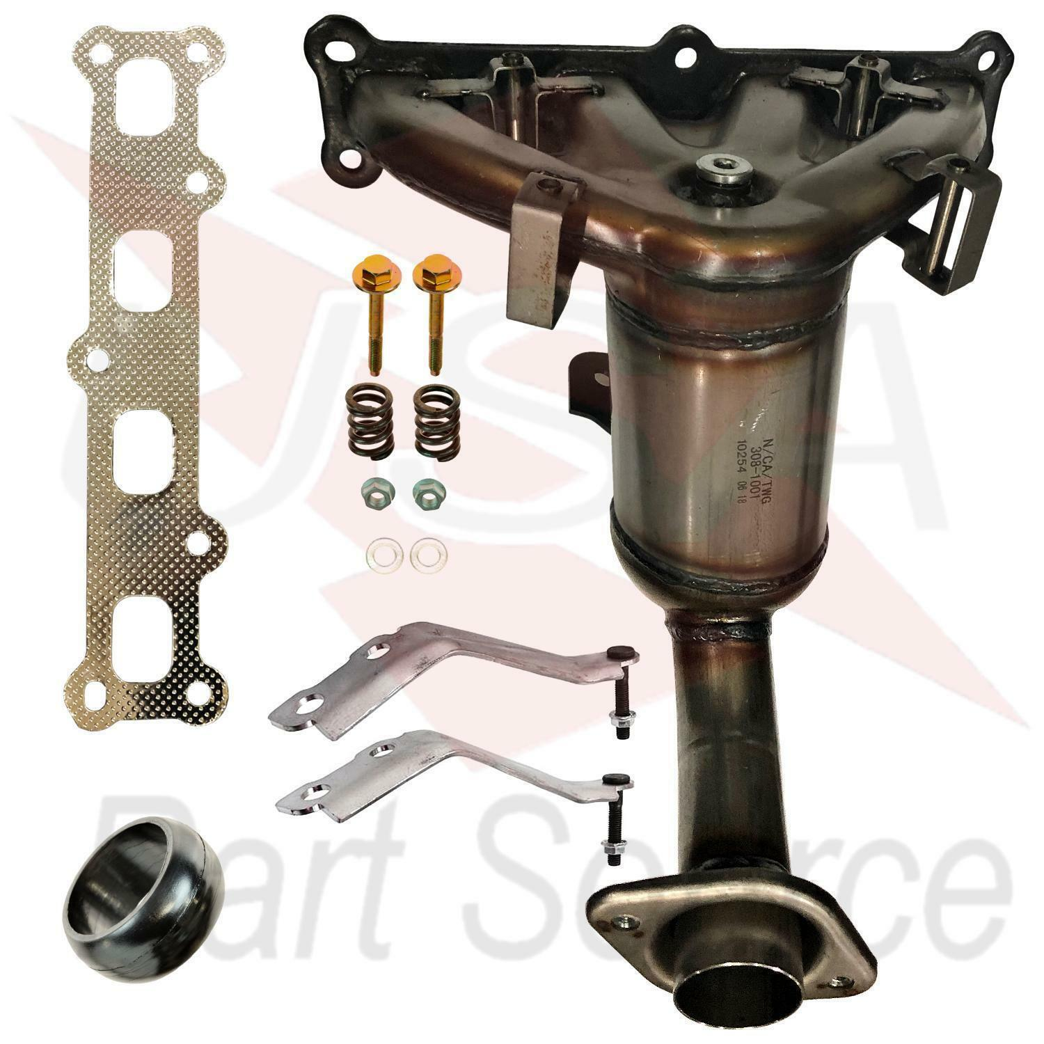 hight resolution of details about 2007 2013 jeep patriot 2 4l exhaust manifold with catalytic converter new