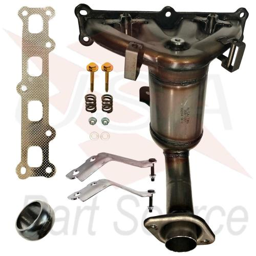 small resolution of details about 2007 2013 jeep patriot 2 4l exhaust manifold with catalytic converter new