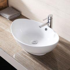 White Porcelain Kitchen Sink Counter Decorating Ideas Ceramic Bathroom Vessel Vanity Basin