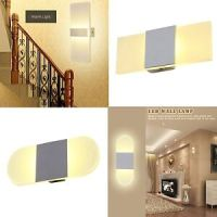 Modern Acrylic LED Wall Sconces Bedroom Bedside Lamp Bed ...