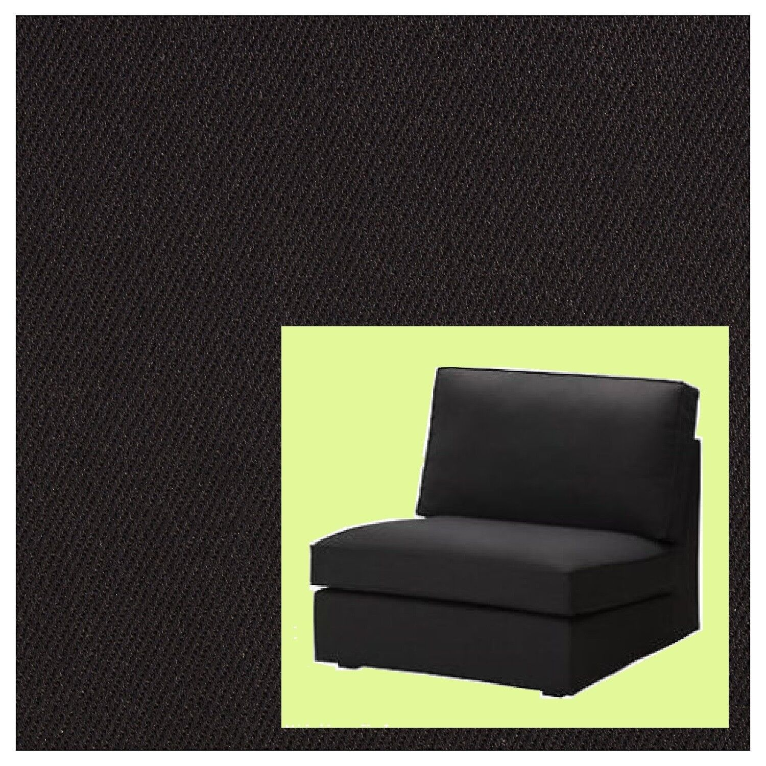 Fingal Swivel Chair Ikea Kivik One Seat Sofa Section Rare Chair Cover Idemo Black Denim New Sealed 1