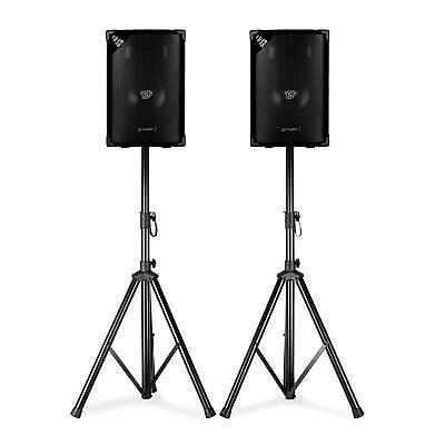 PA DJ Boxen Paar Bühnen Disco Passiv Lautsprecher Sound System Subwoofer Stativ