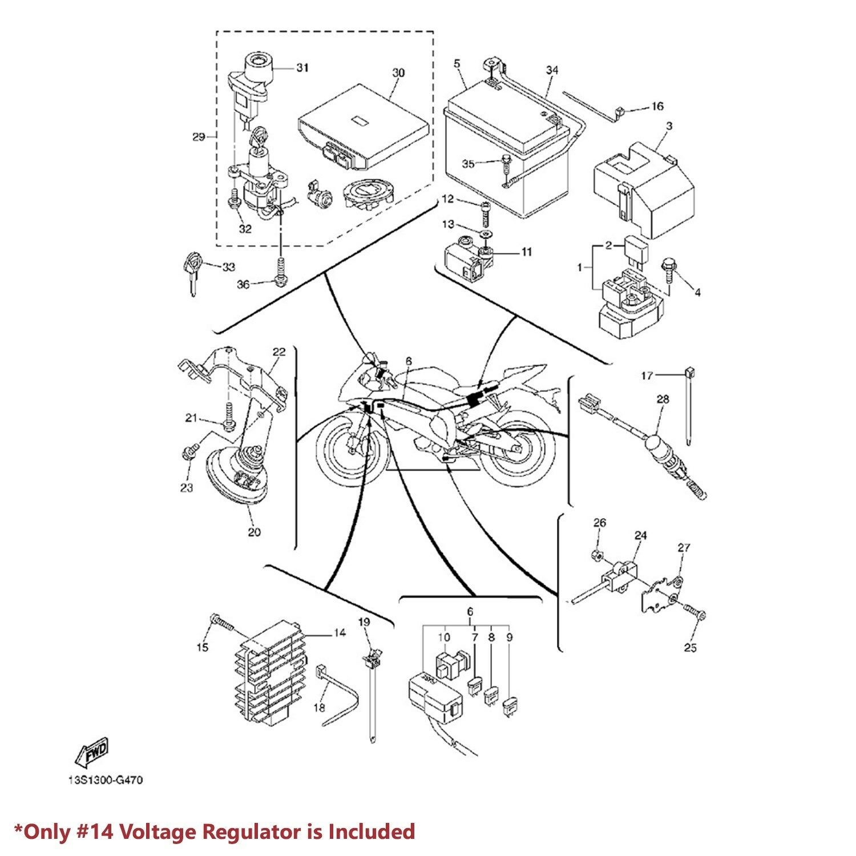 RECTIFIER VOLTAGE REGULATOR ASSY 06-16 YAMAHA R6 YZFR6/V