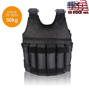 Adjustable Workout Weight 110LB 50KG Weighted Vest Exercise Training Fitness USA