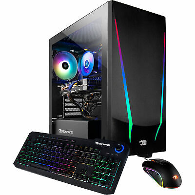 iBUYPOWER Trace 4 Gaming PC Desktop 8GB RAM/240GB SSD AMD Ryzen 5 W10 Computer