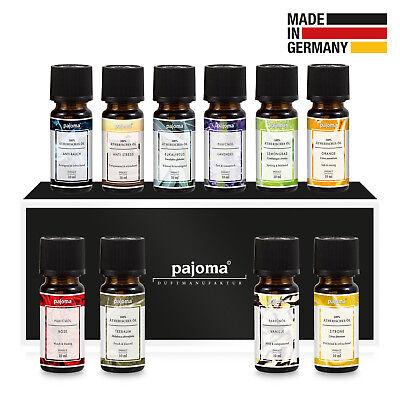 pajoma Duftöl Set 10x10ml Bestseller Aromatherapie Duftlampe Raumduft Angebot
