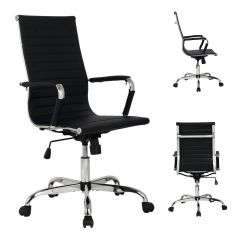 Office Chair High Seat Posture Perfect Evolution Back Pu Leather Ribbed Executive Task Ergonomic Details About Computer Desk