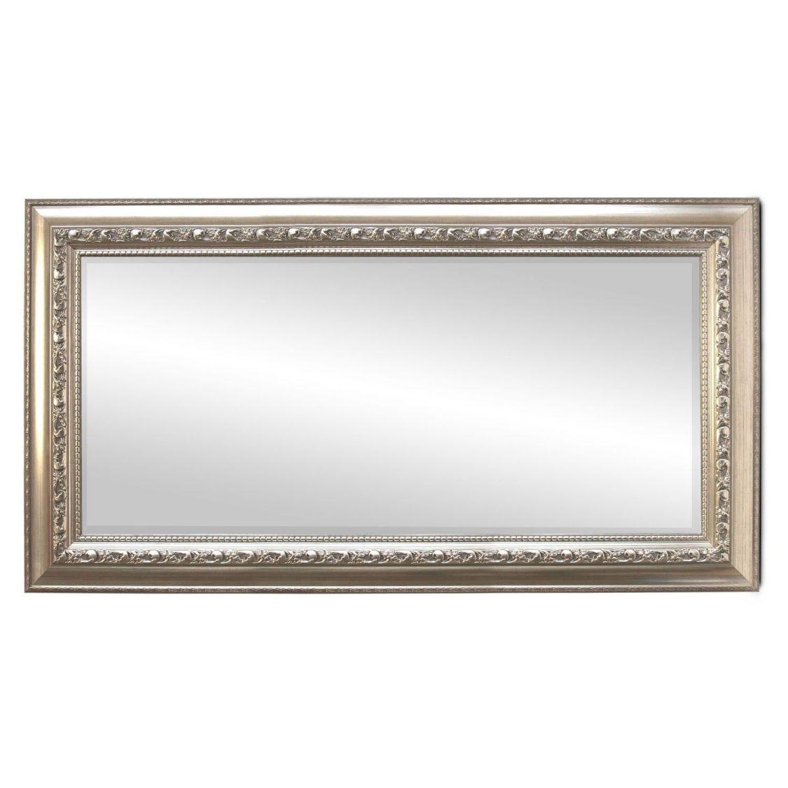 Wandspiegel Garderobenspiegel Barspiegel mit Facettenschliff 170x70cm Silbergold