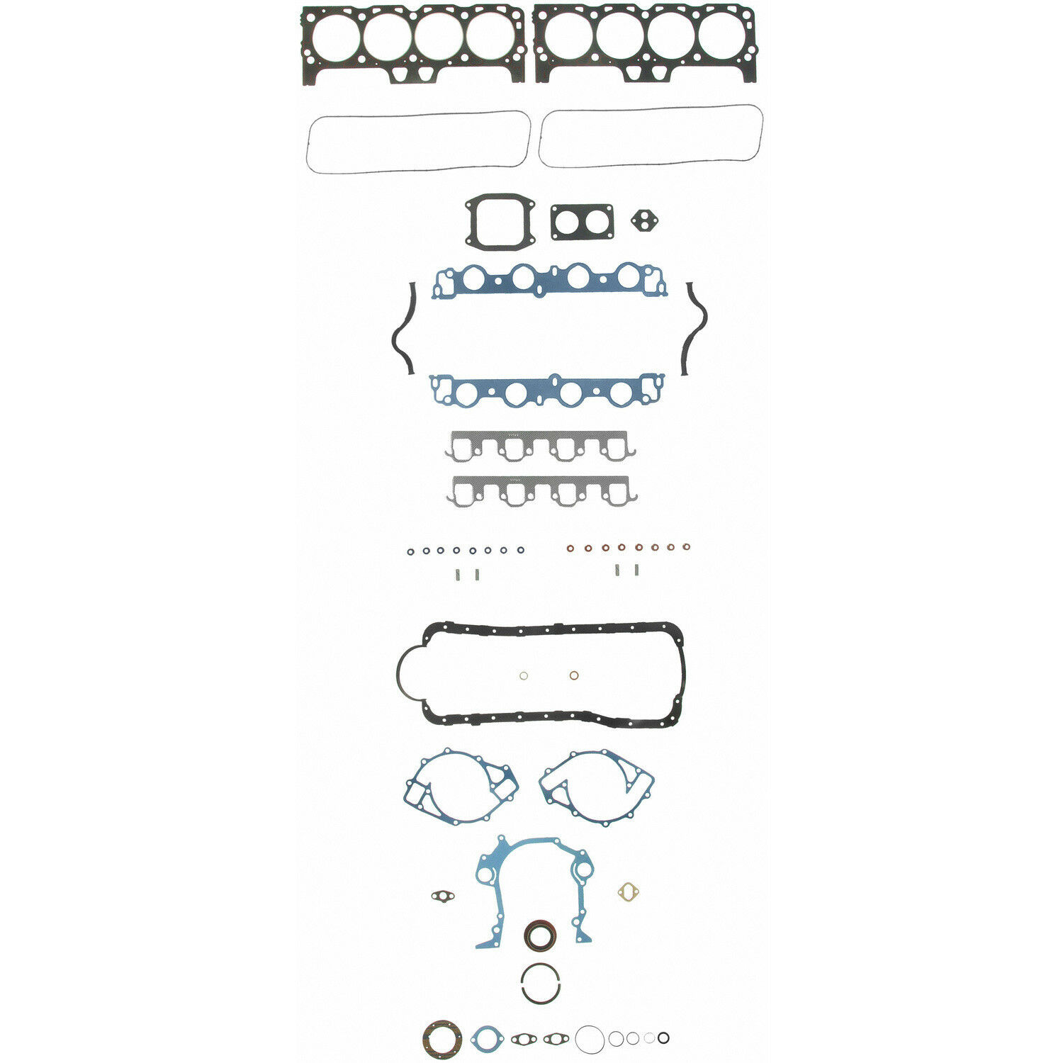 Ford 429 460 Fel Pro Full Gasket Set Head Valve Cover