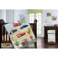 Disney Cars Jr Junction 5 Piece Crib Bedding Set Brand New