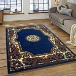 Details About Rugs Area Rugs Carpet 8x10 Rug Oriental Living Room Large Floor Big Blue Rugs