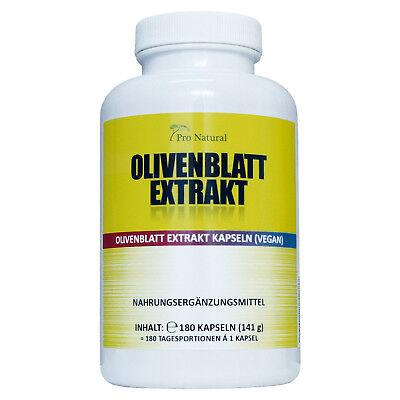 Olivenblatt Extrakt 650mg - 20% (130mg) Oleuropein 180 Kapseln, vegan
