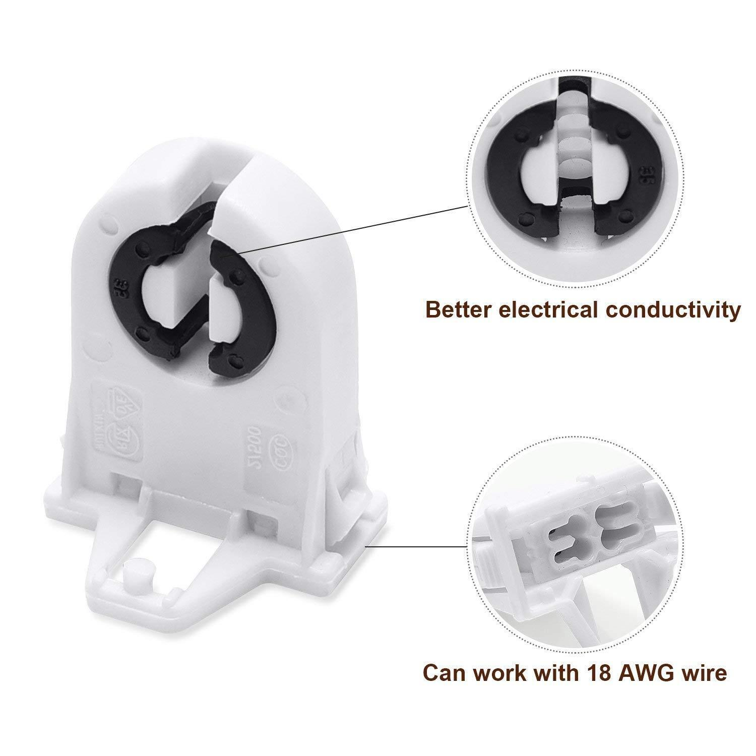 fluorescent light holder tvs fiero wiring diagram tombstone socket fitting lamp base t8 t12 details about led tube