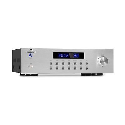 Stereo HiFi Verstärker Bluetooth USB MP3 4 Zonen 8 x 50W RMS FM Radio Amplifier