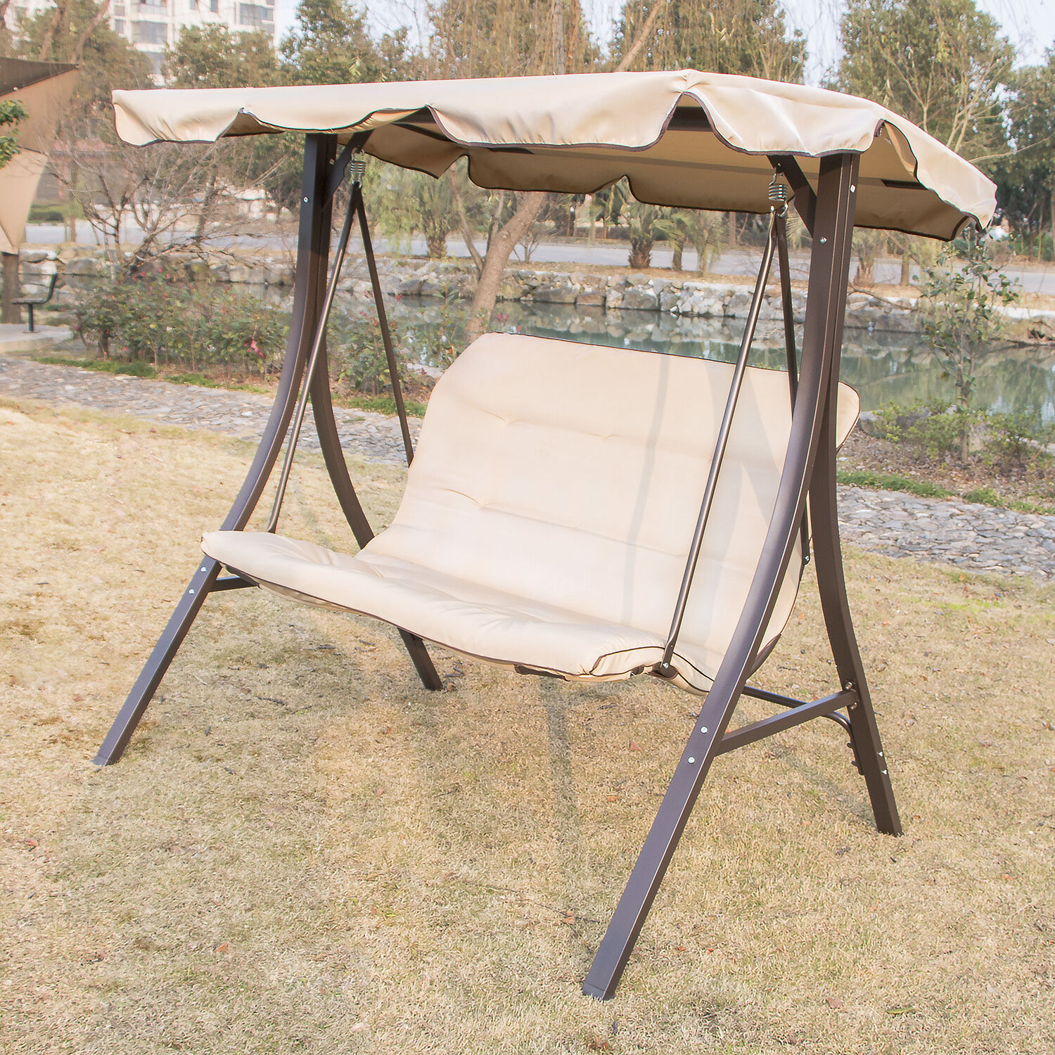 swing chair for porch covers wingback outdoor 2 person canopy glider hammock patio