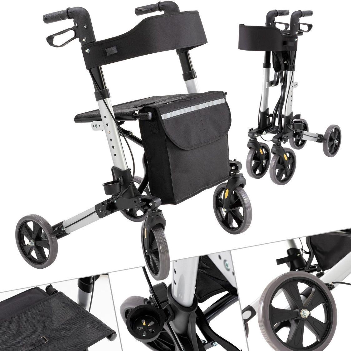 KESSER Alu Rollator klappbar Leichtgewichtsrollator Laufhilfe Gehhilfe Gehwagen