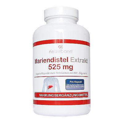 Netzeband Mariendistel Extrakt 525mg (80% Silymarin 420mg) 200 vegane Kapseln