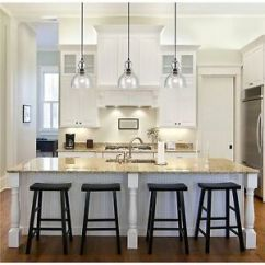 Kitchen Ceiling Lighting Rooster Rugs Light Ebay Industrial Pendant Glass Lamp Fixture Island