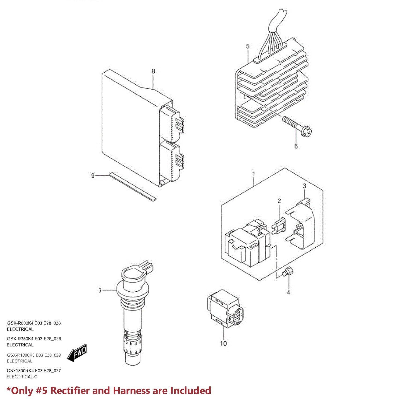 OE Voltage Regulator/Rectifier Assy. GSXR-600/750/1000/GSX