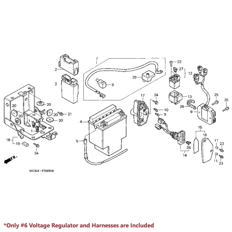 87-08 HONDA VT1100 SHADOW SPIRIT/ACE VOLTAGE RECTIFIER