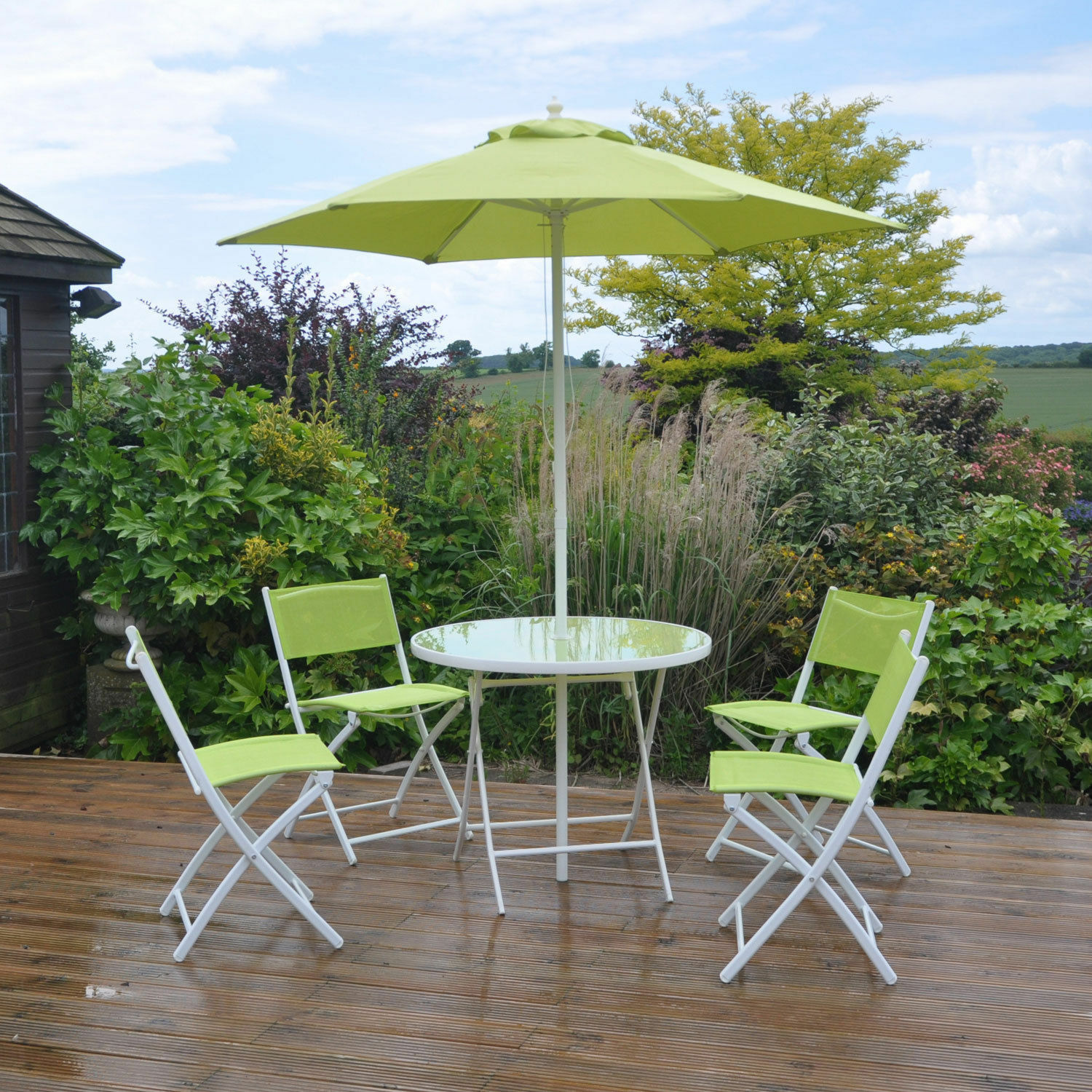 6pc Lime Green Garden Patio Furniture Set Dining