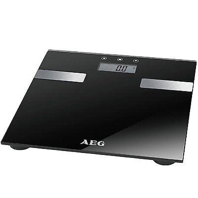 AEG PW 5644 Schwarz 7in1 Personenwaage Gewichtswaage Analyse-Waage bis 180kg