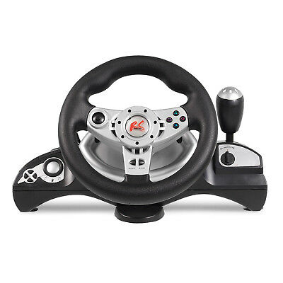 Lenkrad Bremspedale Steering Wheel Gas Pedale Vibration Feedback PC PS2 PS3 USB