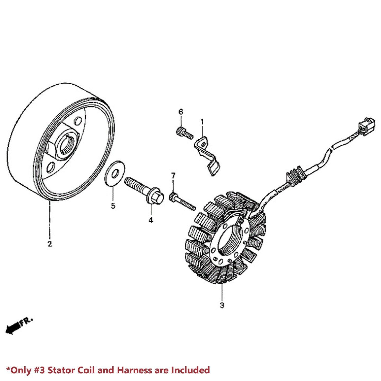 eMUSA OE Stator Assy/Magneto Alternator Coil 91-98 CBR 600
