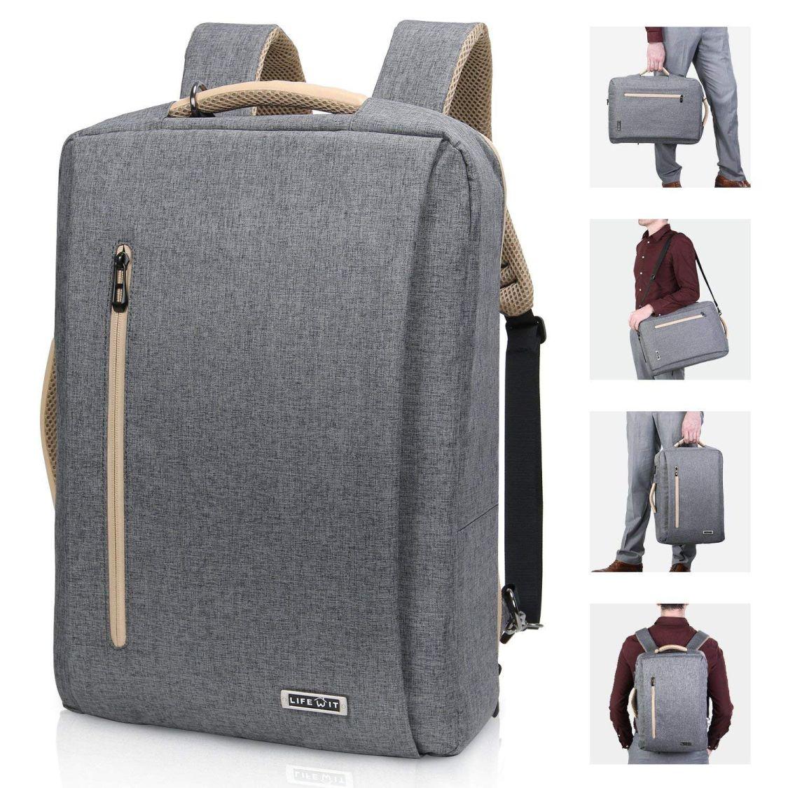 Laptop Rucksack Herren 15.6 Zoll Umhängetasche Business Arbeitstasche Taschen