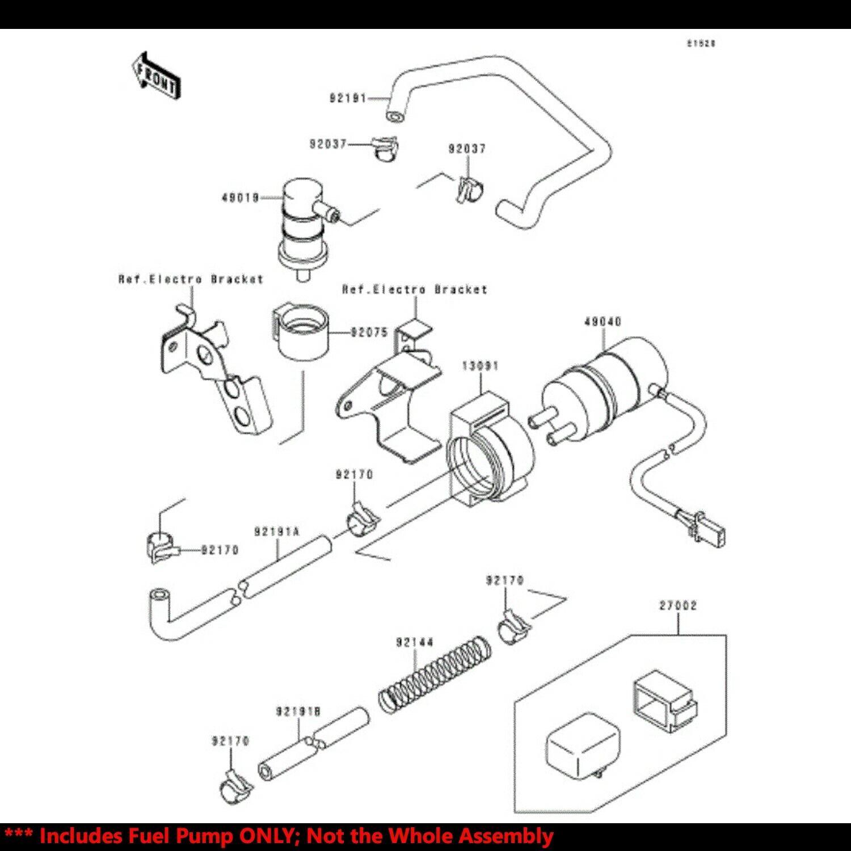 OE Replacement EFI Fuel Pump Kit 93-02 Ninja ZX-6/ZX-6R/ZX