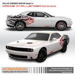 Dodge Challenger Hellcat Shredded Graphic Design For Challenger Rear Fenders Ebay