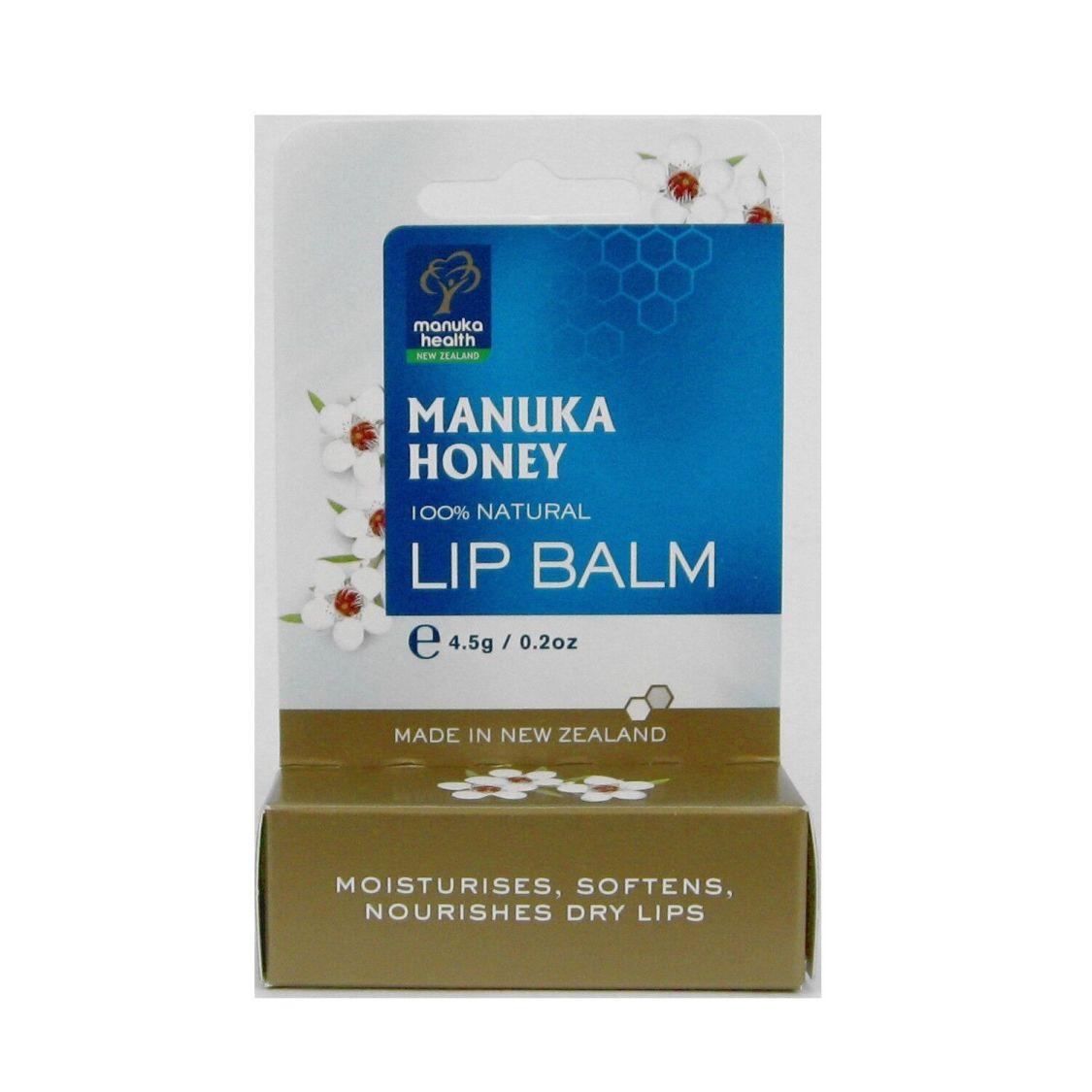 Manuka Health Lip Balm Lippenpflegestift Lippenbalsam Honig Manukahonig 4,5 g