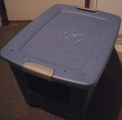 How To Make Your Own Jumbo Size Covered Cat Litter Box Ebay