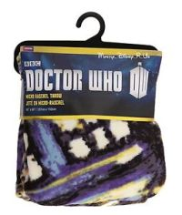 Doctor Dr Who Exploding Tardis Call Box Raschel Fleece