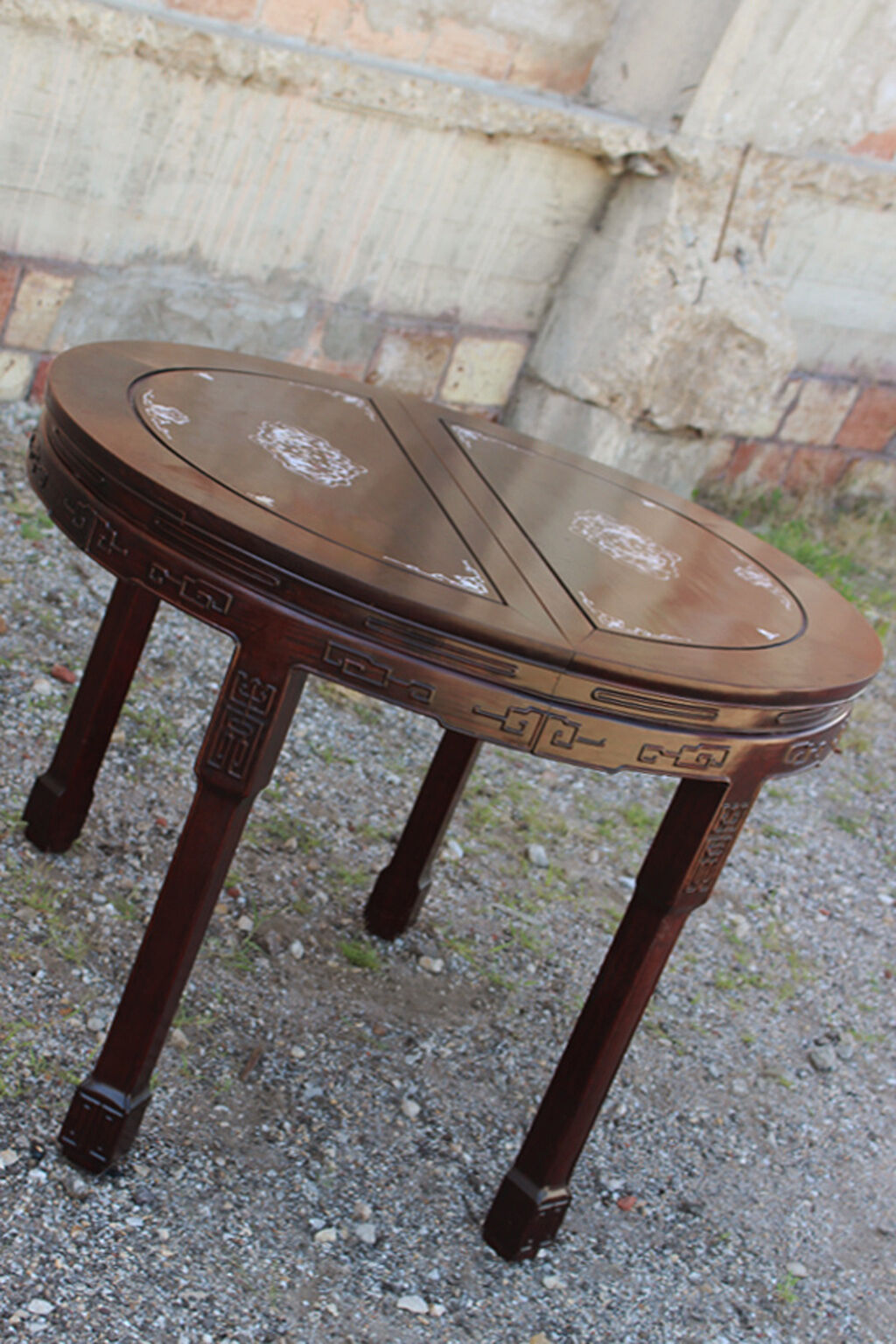 chinese rosewood dining table and chairs makeup artist chair vintage mother of pearl