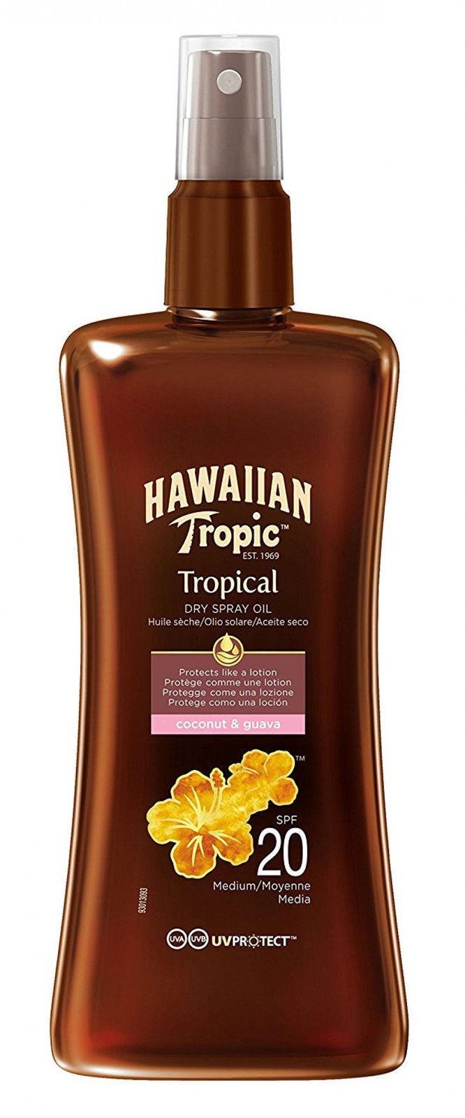 Hawaiian Tropic Sonnenöl Bräunungsöl Protective Dry Spray Oil LSF 20 200 ml